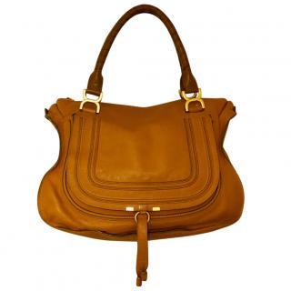 Large Chloe Marcie handbag in tan, RRP �1,460