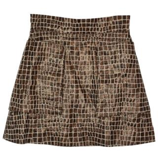 Vivienne Westwood Anglomania crocodile tailoring A-line skirt