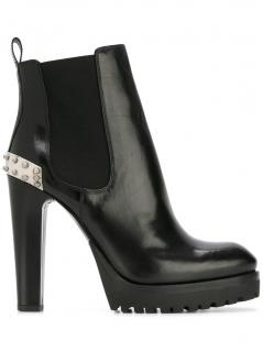 Alexander McQueen Black Platform Boots