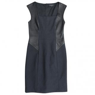 Rag & Bone black leather panel dress