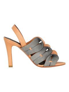 Balenciaga ruffle style sandal heels