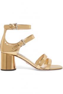 Prada metallic gold sandals unworn