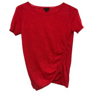 Theory red short sleeved top