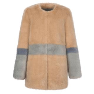Shrimp faux fur Garfunkel coat