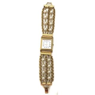 Kenneth Jay Lane gold metal Bijoux watch