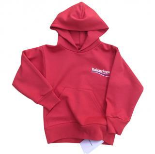 Balenciaga Kids Red Hoodie