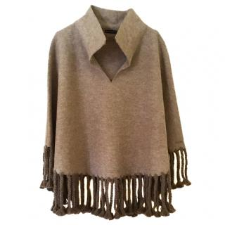 Anntarah Alpaca and wool Poncho Cape