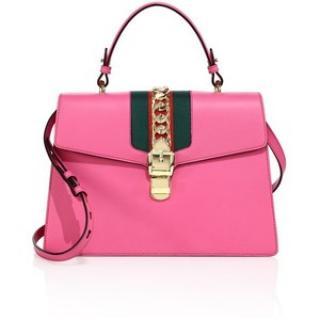 Gucci Sylvie  pink medium pink shoulder/top handle bag RRP �2250
