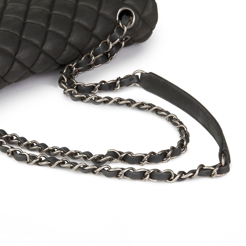 ab3bc0336b1b Chanel Dark Grey Bubble Quilted Velvet Calfskin Small Flap Bag. 24.  12345678910