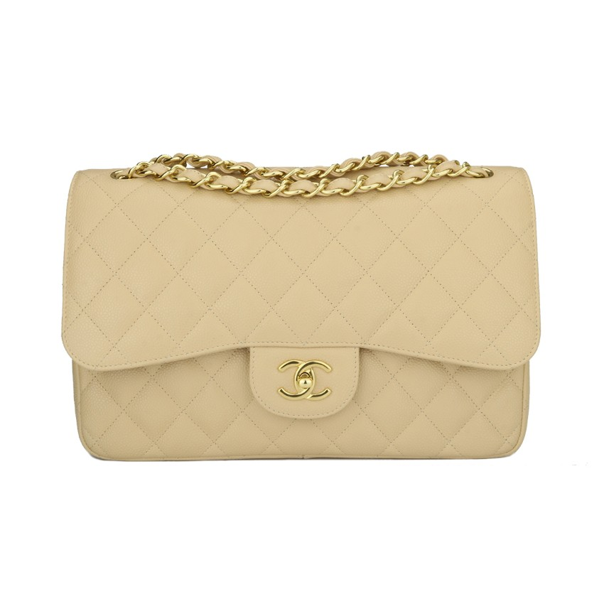 5979015336c5 Chanel Jumbo Double Flap Beige Clair Caviar | HEWI London