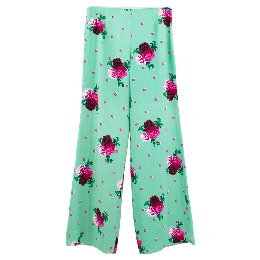 Marc Jacobs Flower Print Wide Leg Trousers