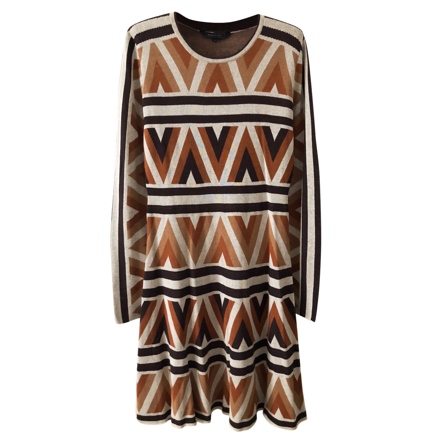 BCBG Max Azria Camel Knitted Scandi Dress