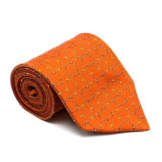 Dunhill Orange Pattern Tie