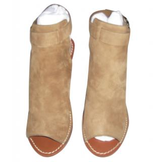 Tory Burch Taupe Suede Booties