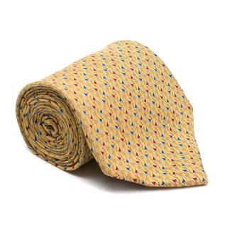 Salvatore Ferragamo Yellow Giraffe Pattern Tie
