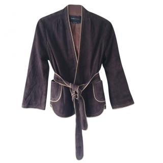 BCBG Max Azria brown leather jacket