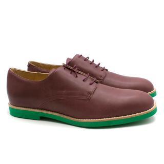 T&F Slack Shoemakers London Plum Leather Brogues