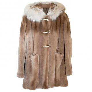 Canadian Shearling mink short coat  - Sand colour