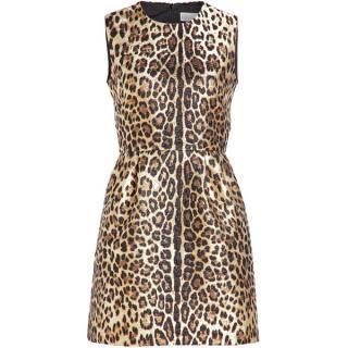 Red Valentino Leopard Print Dress