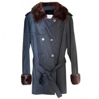 Sprung Freres black short coat - trench style
