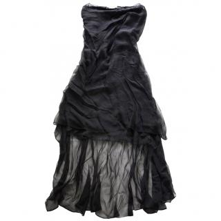 Yves Saint Laurent (YSL) Rive Gauche Black Silk Dress