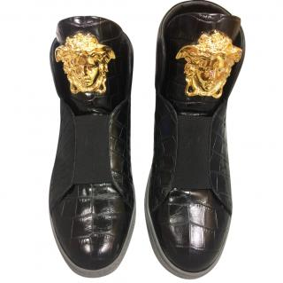 Versace slip-on high-top Palazzo trainers/sneakers