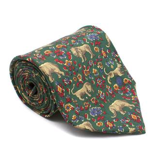 Dunhill Lion  Pattern Tie