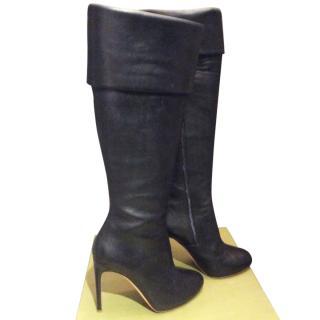 Rupert Sanderson Maya black calf leather knee high, high boots size 38