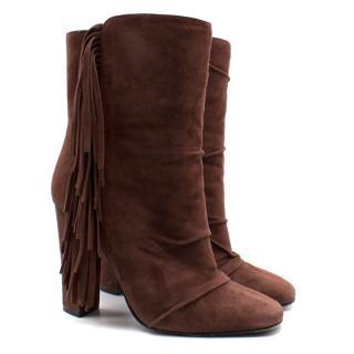 Giuseppe Zanotti Alabama Suede Fringe Boots