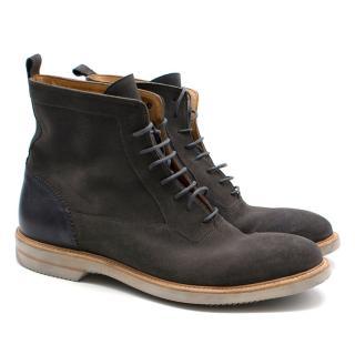 Alexander Mcqueen Grey Suede Boots