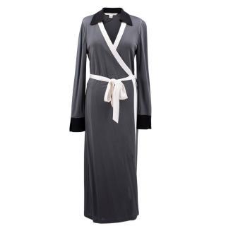 Diane Von Furstenberg Grey Wrap Dress