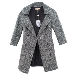 Michael Kors Black and White woven Blazer
