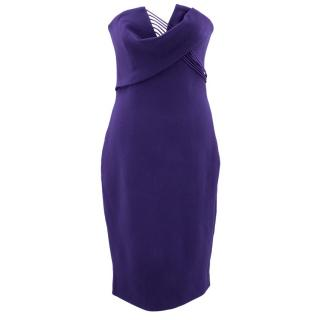 Cushnie et Ochs Purple strapless dress