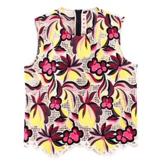 Marni Floral Embroidered Top
