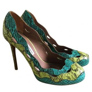 Tabitha Simmons green pumps UK 6