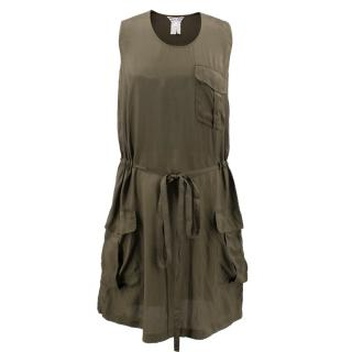Comme des Garcons Khaki Green Dress