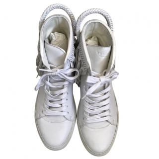 Buscemi white leather high tops