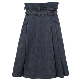 Bottega Veneta Denim High-Waisted Skirt