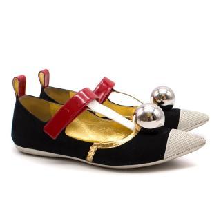 Prada Funky Ballerina Flats