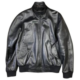 Nicole Farhi Leather Bomber Harrington Jacket
