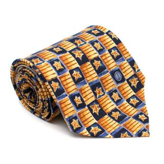 Dunhill Yellow Star Print Tie