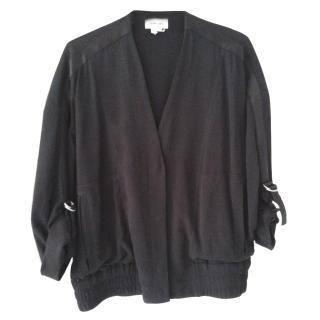Helmut Lang black bomber jacket