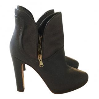 Rupert Sanderson grey, zip boots