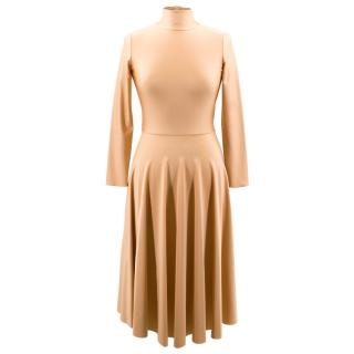 Balenciaga Current Season Pleated Midi Spandex Dress