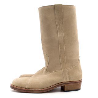 Vanessa Bruno Grey Suede Boots