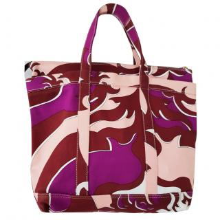 Emilio Pucci large purple tote bag