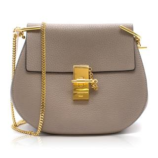 Chloe Current Season Mini Drew Grey Crossbody Bag