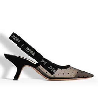 Christian Dior J'adior black dot slingback