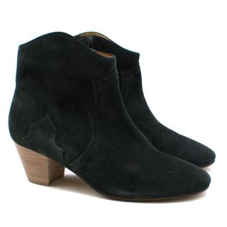 Isabel Marant Green-Bottle Suede Boots