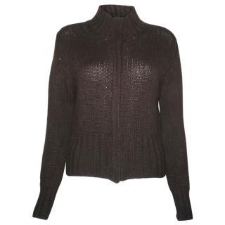Brora 100% cashmere zip up cardigan/jacket